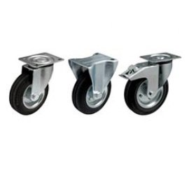 резиновые черные колеса
