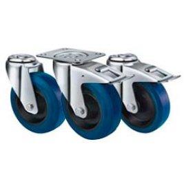 резиновые синие колеса