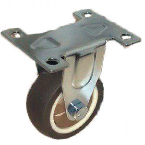 Колесо коричневая мягкая резина неповоротное 50 мм FCG25