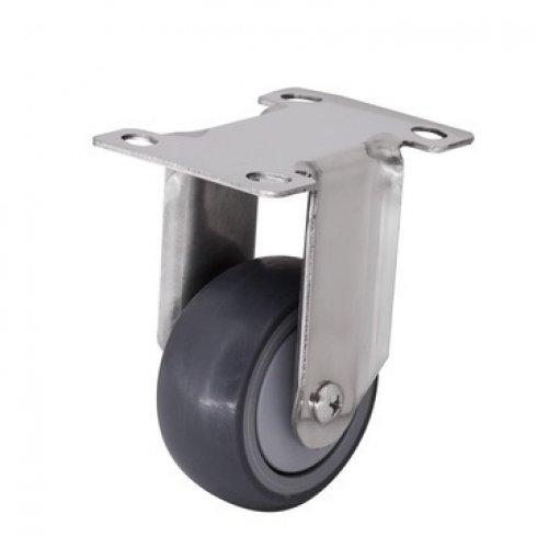 Колесо серое мягкая резина неповоротное 40 мм SUS 304