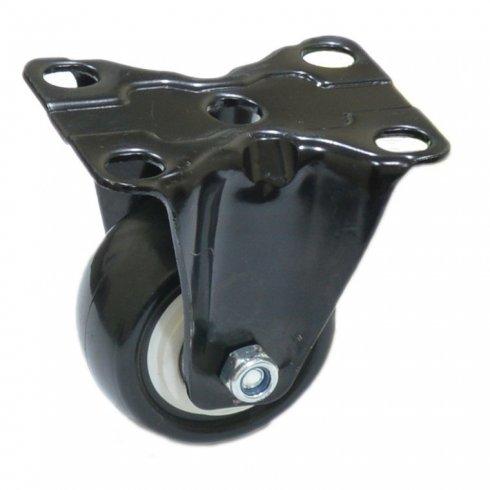Колесо черное резиновое неповоротное 40 мм FCF40