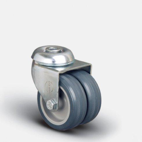 Колесо аппаратное сдвоенное под болт М10  50 мм ET04 MKT 50, диск-пропилен