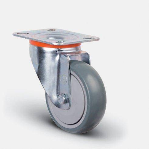 Колесо аппаратное поворотное с подшипником 125 мм EM01 MBT 125, диск-пропилен