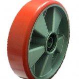 Колесо полиуретановое опорное для рохли 200 мм, диск-алюминий, подшипник не втоплен