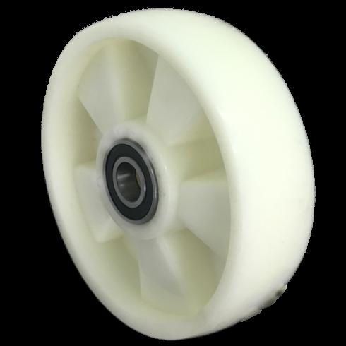 Колесо полиамидное опорное для рохли 180 мм, подшипник не втоплен