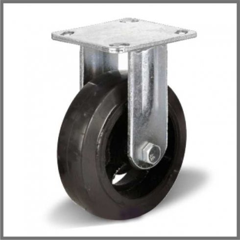 Колесо большегрузное обрезиненное неповоротное 125 мм FCD54