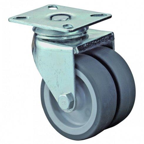 Колесо аппаратное сдвоенное поворотное 50 мм ET01 MKT 50, диск-пропилен