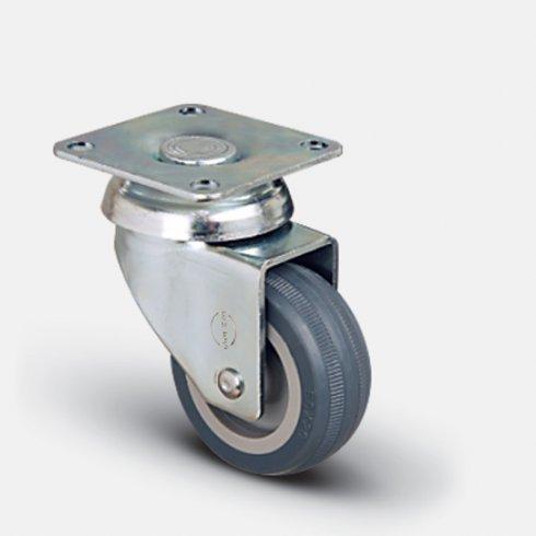 Колесо поворотное мебельное под болт М10 100 мм EP04 MKT 100, диск-пропилен