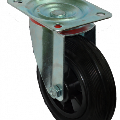 Колесо для мусорных контейнеров усиленное поворотное 200 мм SC80KU