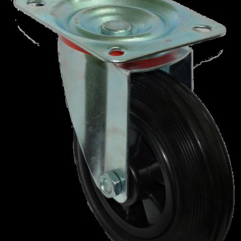 Колесо для мусорных контейнеров усиленное поворотное 160 мм SC63KU