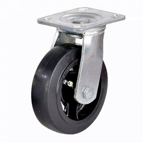 Колесо большегрузное обрезиненное поворотное 100 мм SCD42