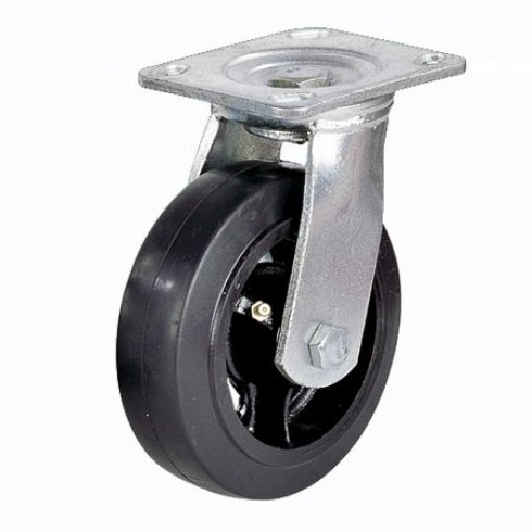 Колесо большегрузное обрезиненное поворотное 125 мм SCD63