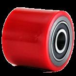 Ролик красный полиуретановый для рохли 80х60 мм