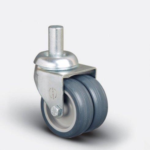 Колесо аппаратное сдвоенное под болт М10  50 мм ET05 MKT 50, диск-пропилен