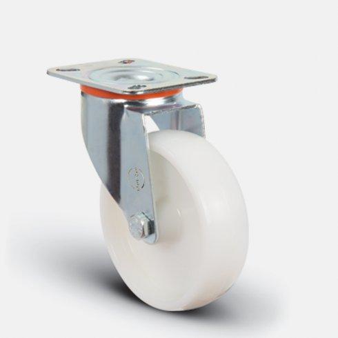 Колесо нейлоновое поворотное 100 мм EM01 ZKZ 100