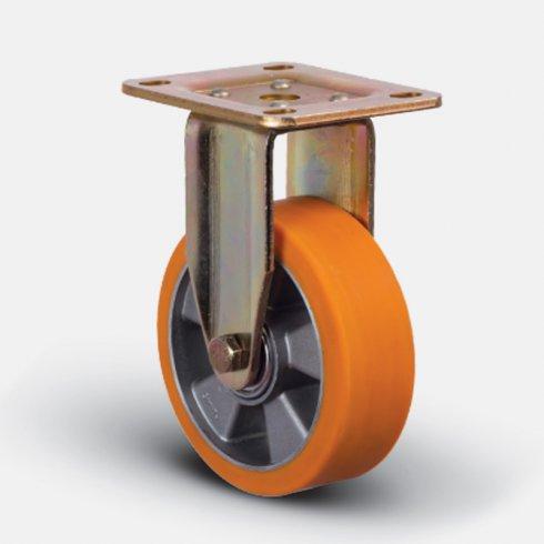 Колесо полиуретановое неповоротное 100 мм ED02-ABP-100