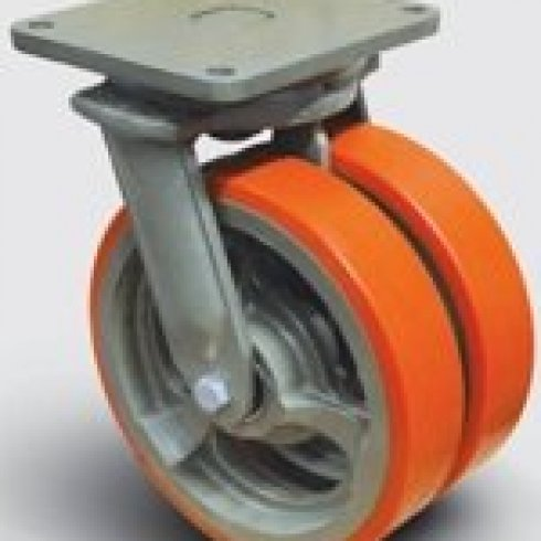 Колесо полиуретановое сдвоенное поворотное 250 мм EW01 VBP 250