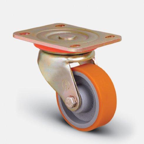 Колесо полиуретановое неповоротное 125 мм ED01 VBP 125