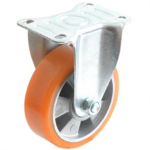 Колесо большегрузное полиуретановое неповоротное алюминий 100 мм (Medium)
