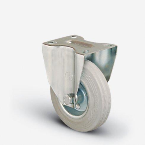 Колесо серое промышленное неповоротное 200 мм EM02 SPRg 200