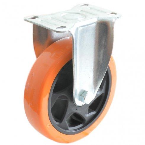 Колесо большегрузное полиуретановое неповоротное 100 мм PVC (Medium)