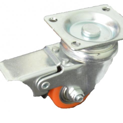 Колесо полиуретановое поворотное с тормозом 35 мм 903035