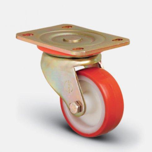 Колесо сверхмощное полиуретановое поворотное 100 мм ED01 ZBP 100
