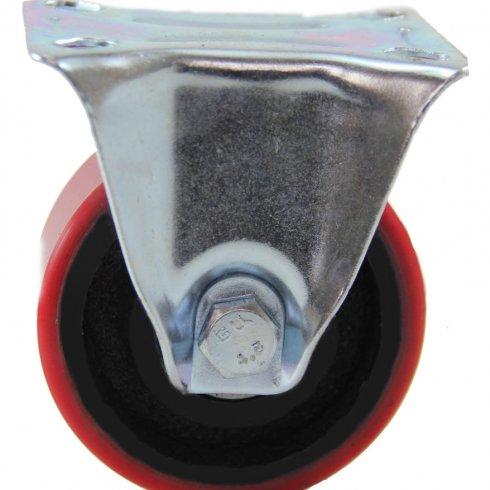 Колесо большегрузное полиуретановое неповоротное 100 мм (Medium)