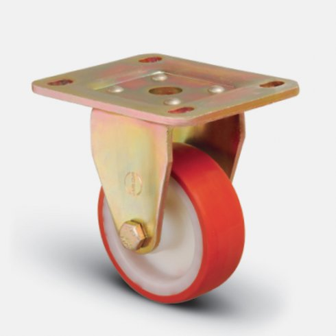Колесо сверхмощное полиуретановое неповоротное 80 мм ED02 ZBP 80