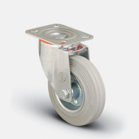 Колесо серое промышленное поворотное 125 мм EM01 SPRg 125