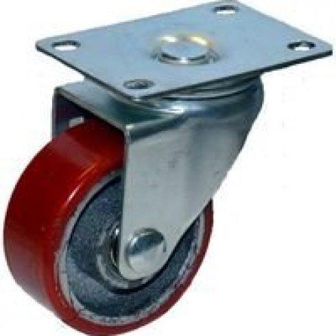 Колесо большегрузное полиуретановое поворотное 75 мм (Medium)