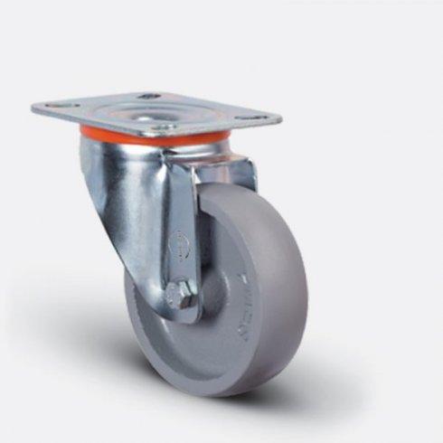 Колесо термостойкое чугунное поворотное 80 мм EM01-VKV-80