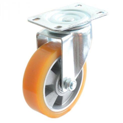 Колесо большегрузное полиуретановое поворотное алюминий  75 мм (Medium)