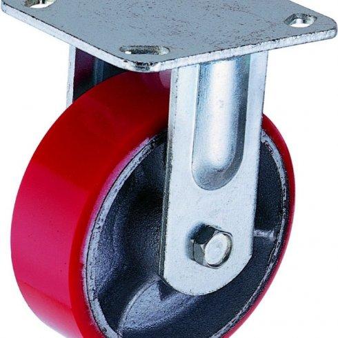 Колесо полиуретановое большегрузное неповоротное 100 мм FCP42