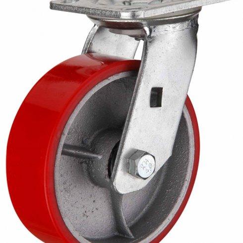Колесо полиуретановое большегрузное поворотное 200 мм SCP80