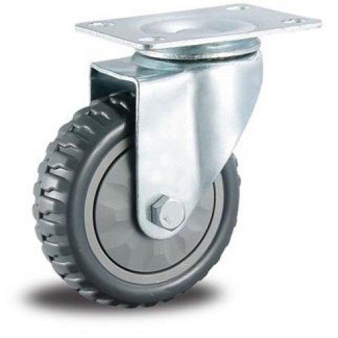Колесо промышленное литое поворотное 125 мм