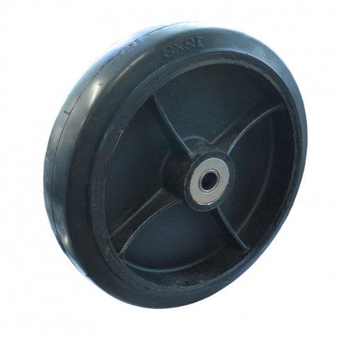 Колесо большегрузное обрезиненное, без кронштейна 300 мм D95, нагрузка 1000 кг