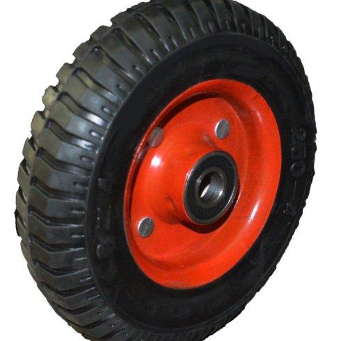 Колесо литая резина красный диск 200 мм
