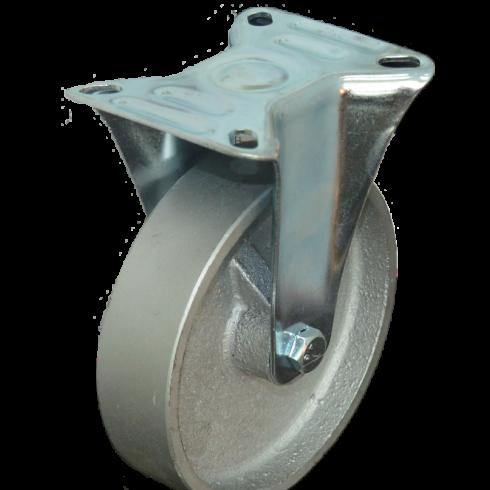 Колесо чугунное неповоротное 125 мм, 30 мм литой обод FCss54
