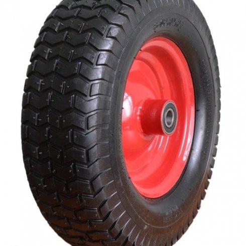 Колесо с симметричной металлической ступицей 16х6 380 мм, с подшипником 20 мм, пневматическое