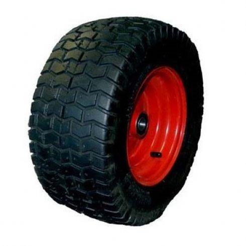Колесо с несимметричной металлической ступицей 380 мм, посадочный диаметр 20 мм, пневматическое