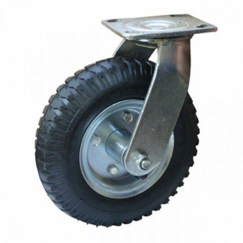 Колесо пневматическое с поворотной опорой 210 мм