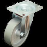 Колесо чугунное поворотное 125 мм, 30 мм литой обод SCss55