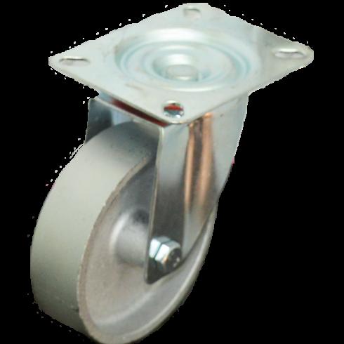 Колесо чугунное поворотное 100 мм, 30 мм литой обод SCss42