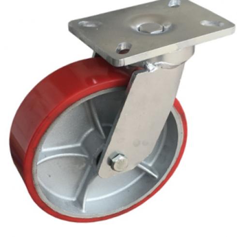 Колесо большегрузное полиуретановое сверхмощное поворотное 150 мм