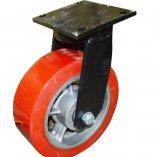 Колесо большегрузное полиуретановое, поворотное 300 мм, черный кронштейн 8812-01-PCI