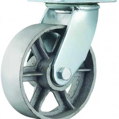 Колесо термостойкое поворотное со спицами 202 мм