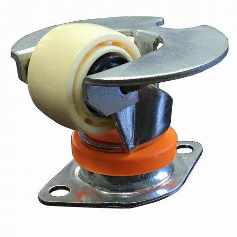 Колесо нейлоновое CARGO CASTER 62 мм, с платформой, пылезащита-нейлон, площадка-ромб