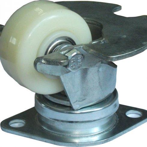 Колесо нейлоновое CARGO CASTER 62 мм, с платформой, пылезащита сталь, площадка ромб