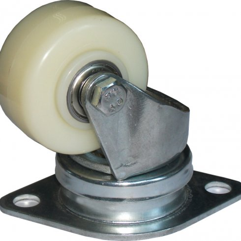 Колесо нейлоновое CARGO CASTER 62 мм, пылезащита - сталь, площадка - ромб